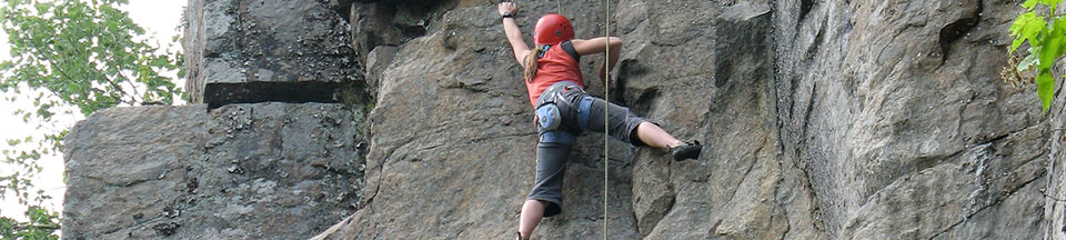 Guided Rock Climbing at our Indoor Rock Climbing Facility and Outdoor Guiding Service - Queensbury NY